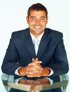 Happy smiling businessman