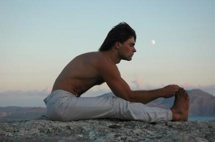 Yoga Forward Bend Pose - Paschimottanasana