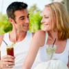 Healthy relationships - Couple relaxing with drink